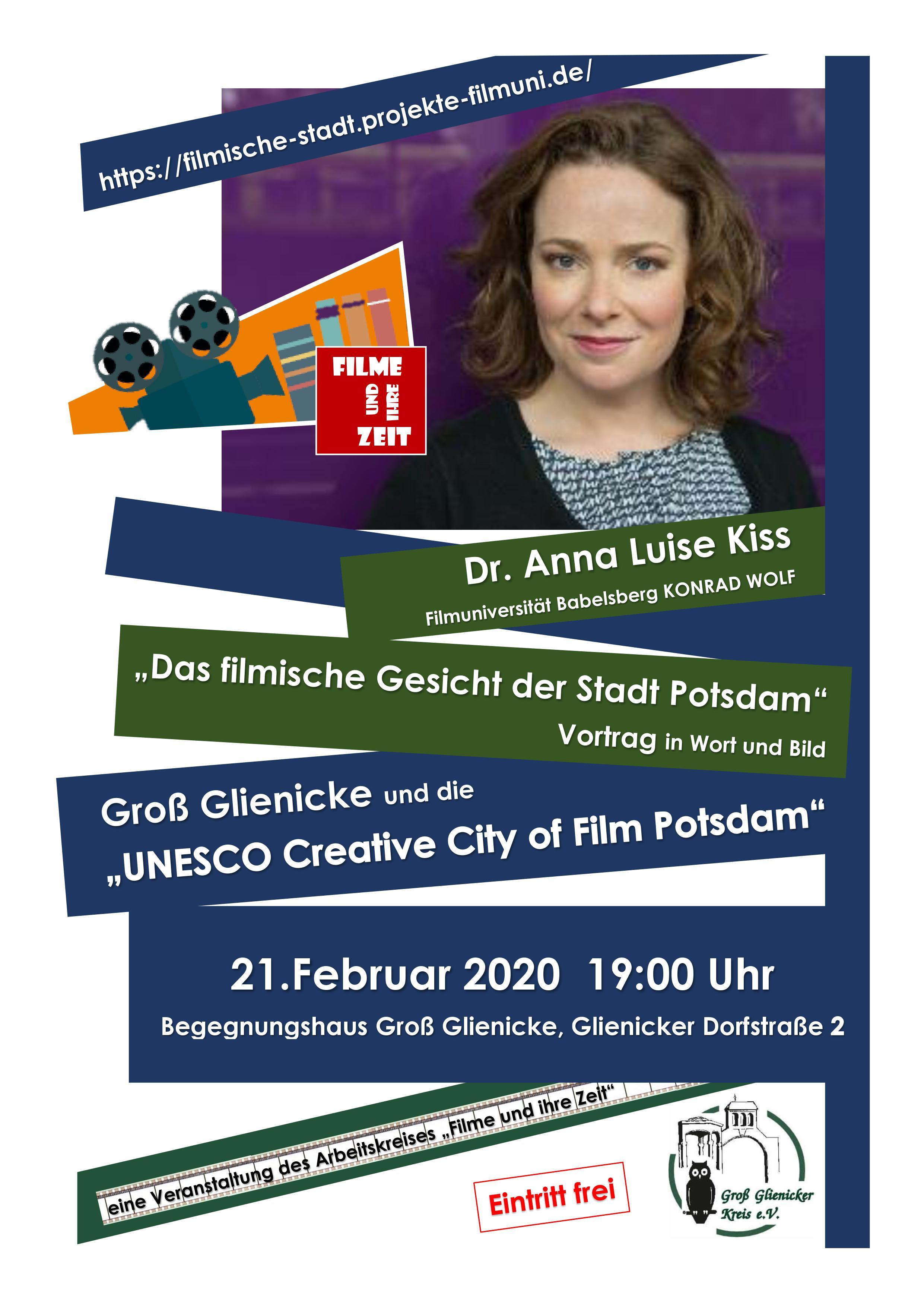 Filme und ihre Zeit Kiss Februar 2020 GGK Begegnungshaus